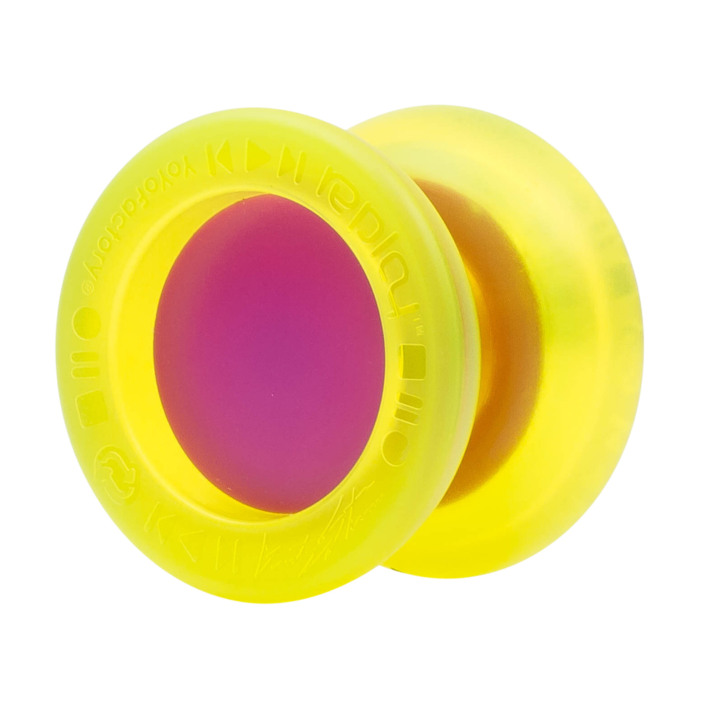 REPLAY PRO   UPC: 689076461108  Part#: 46110  After a full year of development, Replay PRO was released with the focus being on World Champion  performance, extreme durability, and a low price point. Being constructed of tough poly-carbonate and  using a Center Trac Bearing stock, this yoyo can handle anything you can throw at it. In 2015, Gentry  proved the full potential of his signature Replay PRO by using it to win his second USA National Title.