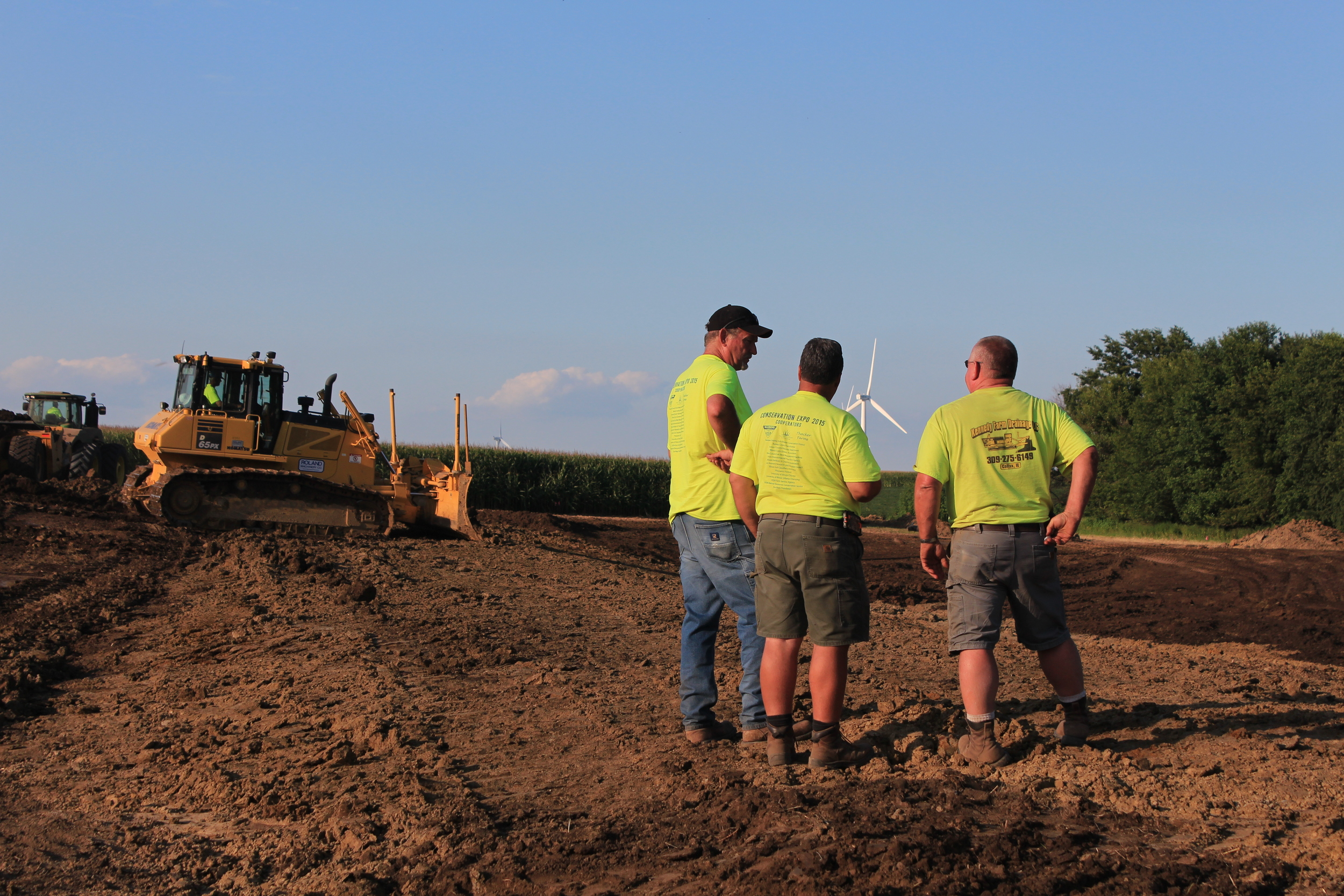Installing a TWI-designed farm-based wetland to remove nutrient pollution.
