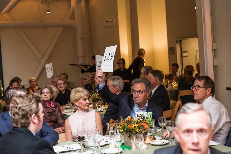 The evening's fundraising activities raised almost $150,000 for TWI's ecological restoration projects.