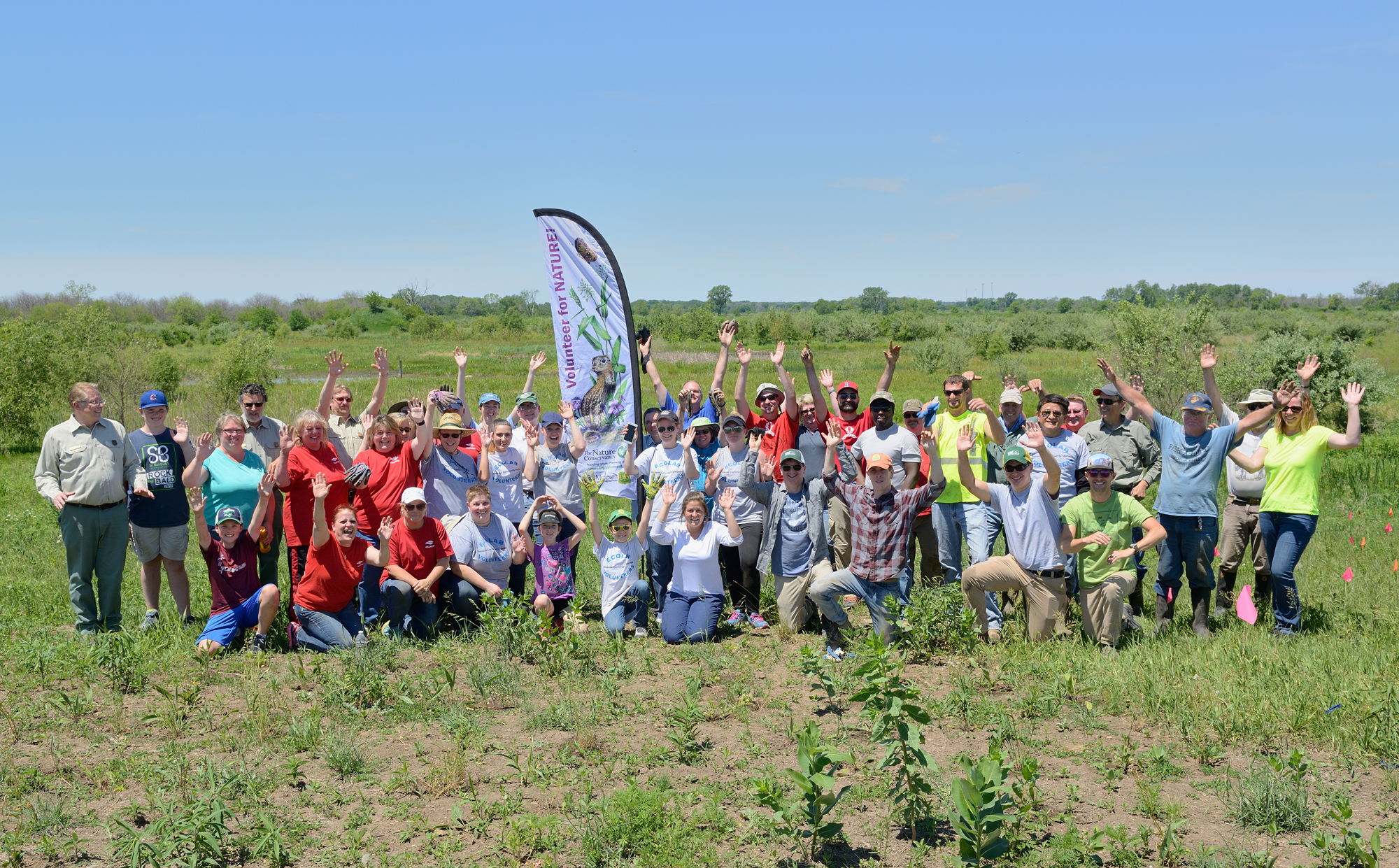 "On June 8, 2017, four companies with facilities neighboring Midewin were recognized as Prairie Champions for the second year running for their support of TWI's Midewin restoration work through both employee volunteering and corporate donations. In total they sent 32 employees to volunteer at our new ""Secret Ridge"" restoration site at Midewin."