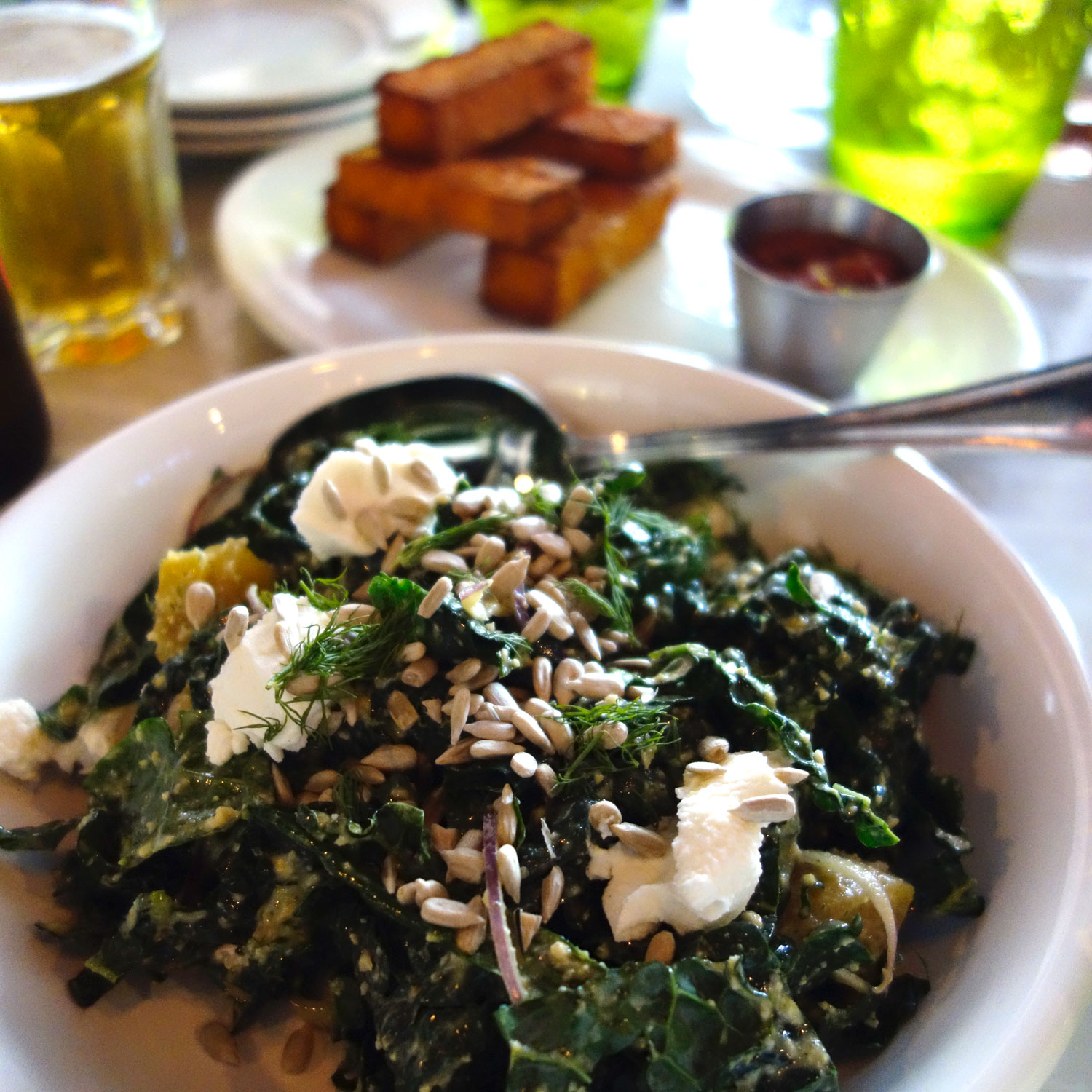 Kale Salad with Polenta Fries making an encore appearance