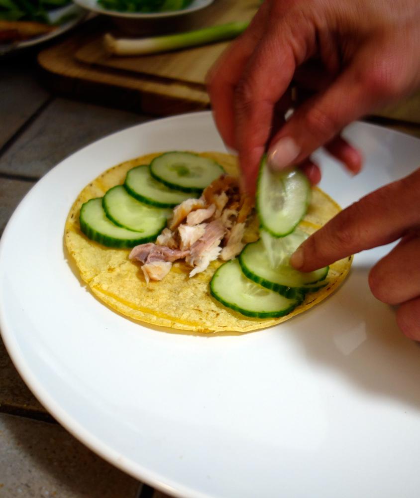 Start layering your ingredients
