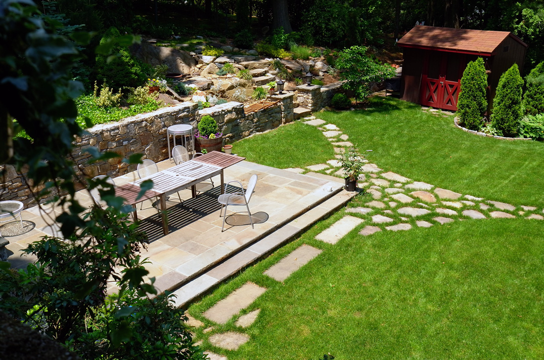 Our backyard patio awaiting some pretty... and of course, the guests.