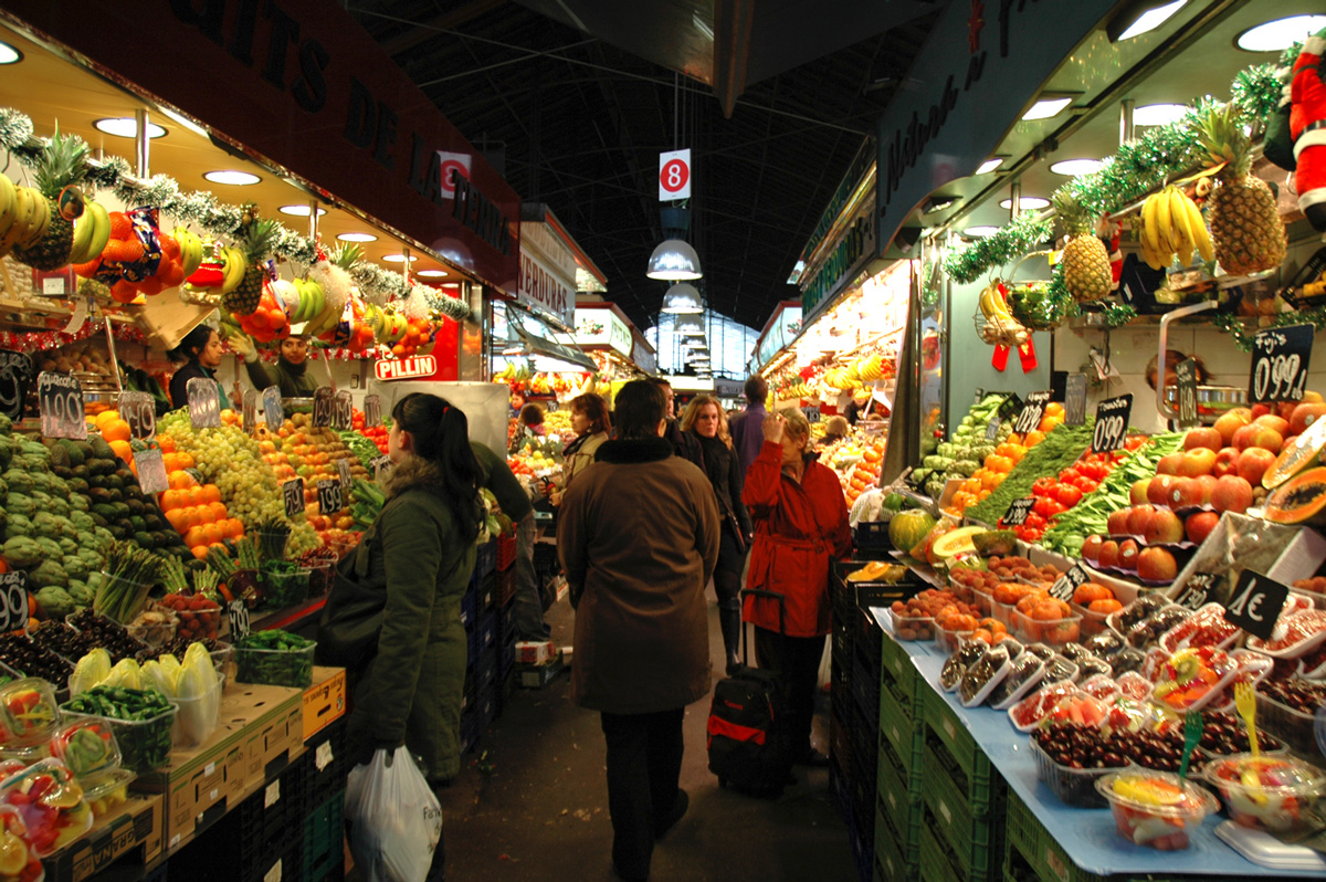 Fruits and vegetables in Barcelona's  La Bocaqueria .