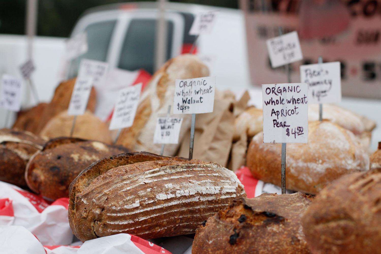 Freshly baked artisan breads/ Marin County, CA