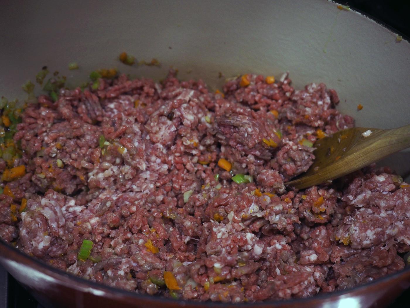 ground beef & pork