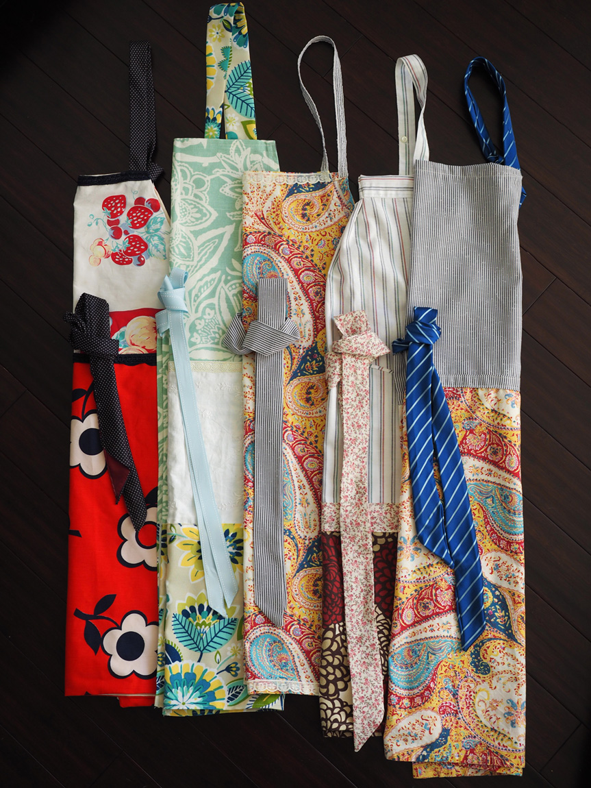 Aprons,  an array of color and personality