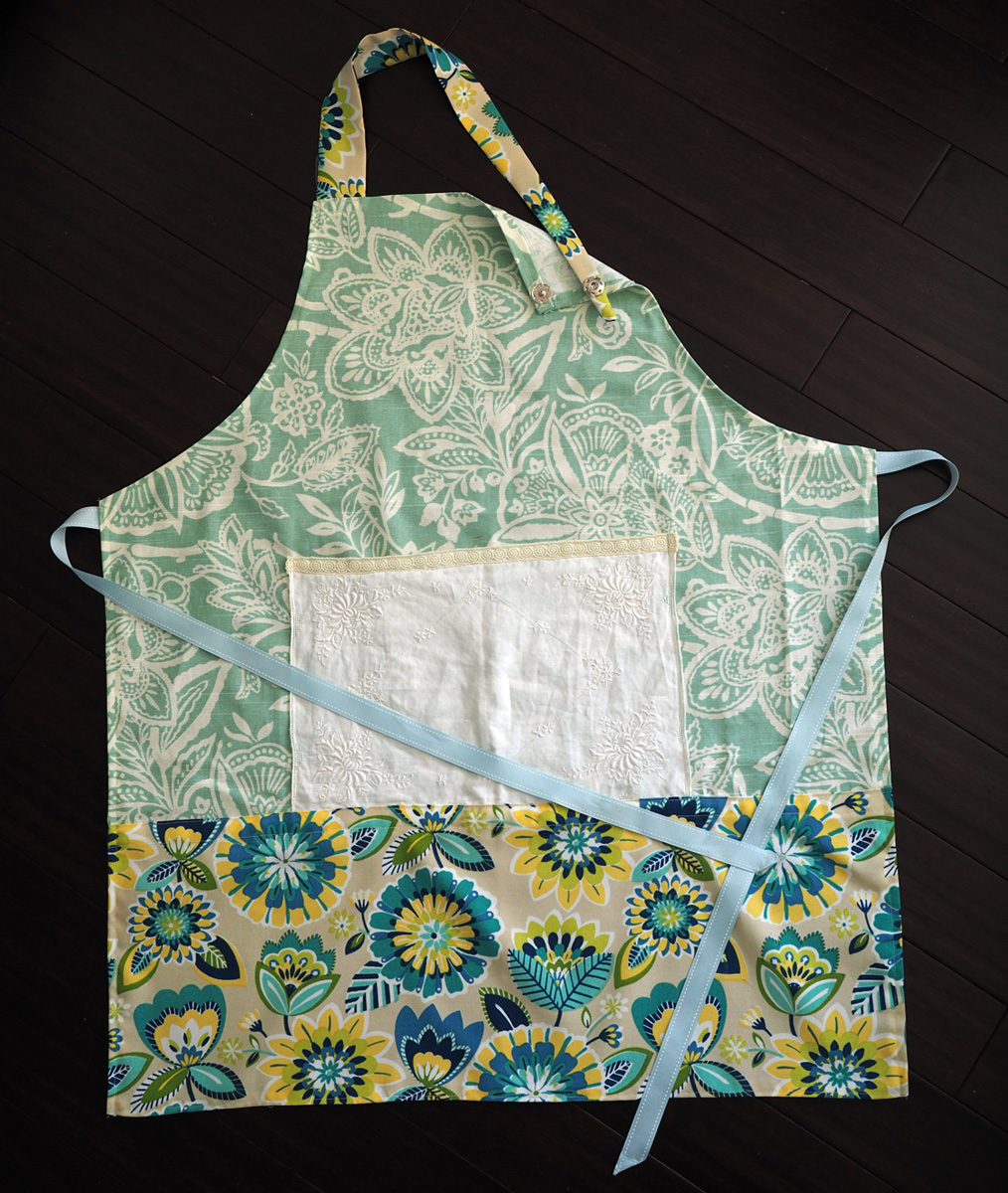 Florals: Aqua & Blues Apron