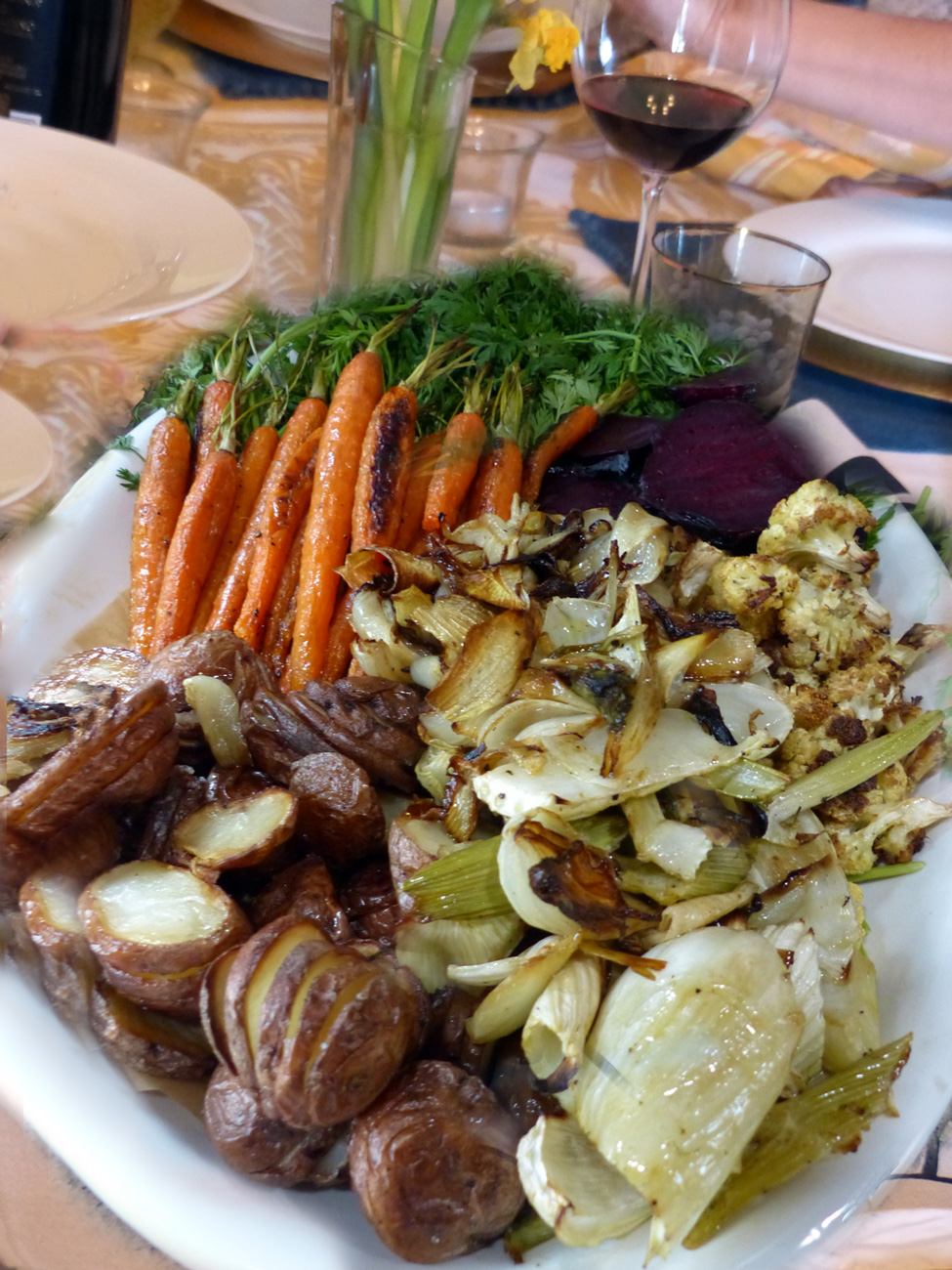 A Feast of roasted vegetables.