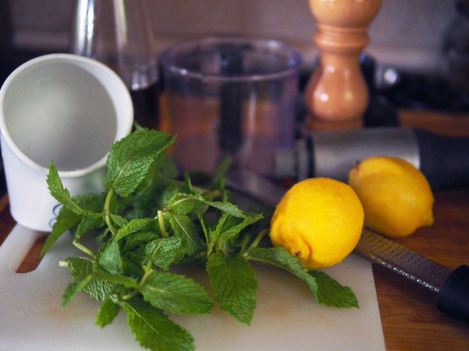 Cool, crisp mint and fresh lemons