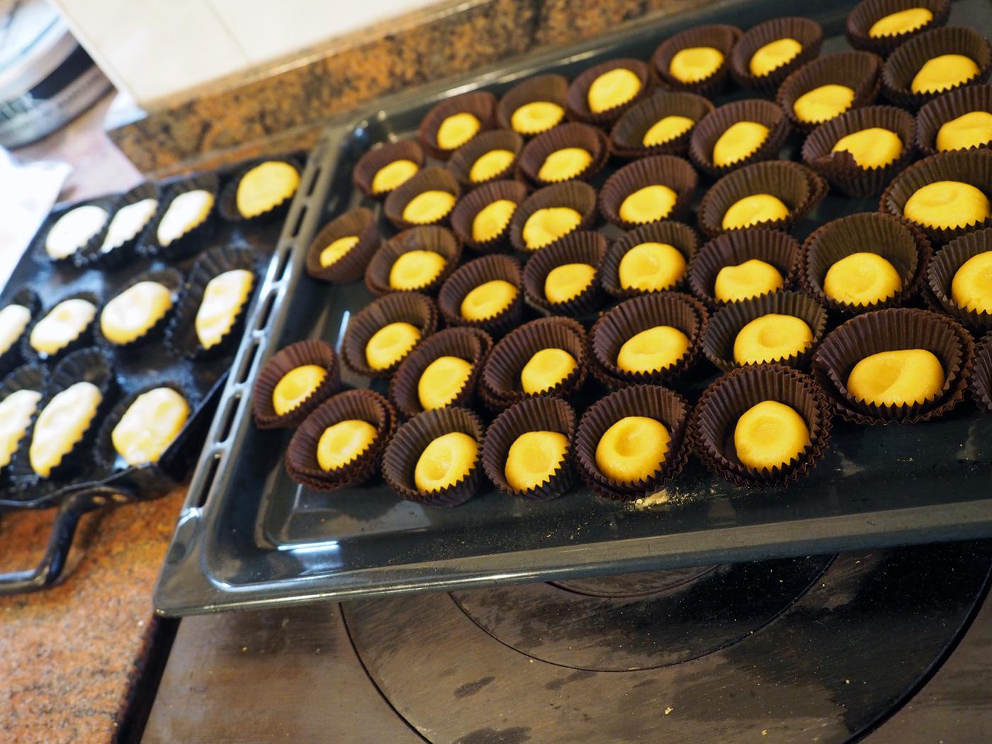 Marisa's cute little cookies in cupcake holders.