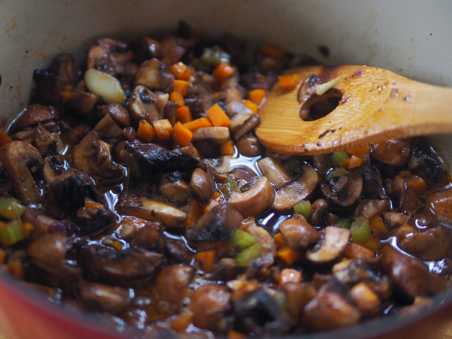 This really is a pot full of mushrooms.