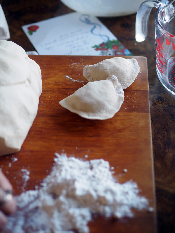 Perfect little potato dumplings. Well, not so little.