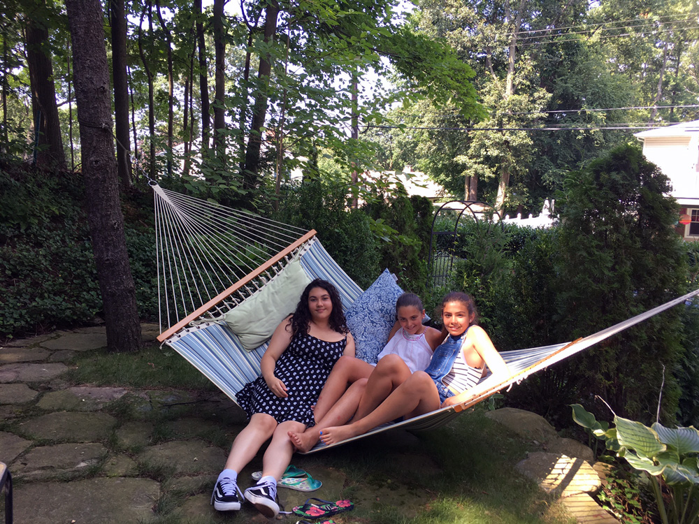 Who doesn't love the hammock. Also, in blue and white.  Photo credit: Angelica Intriago