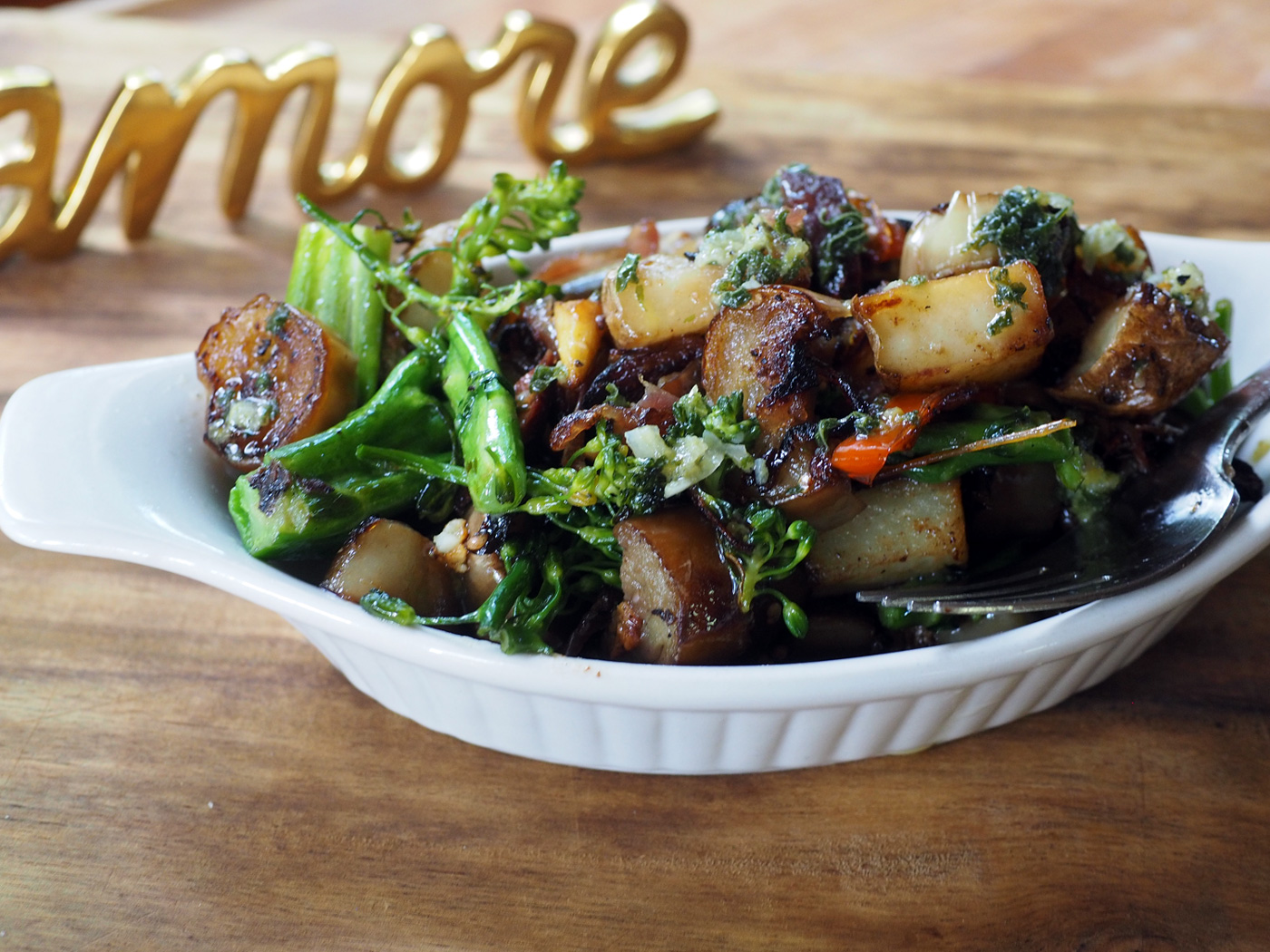 With some sautéd broccolini, this made a tasty lunch dish.