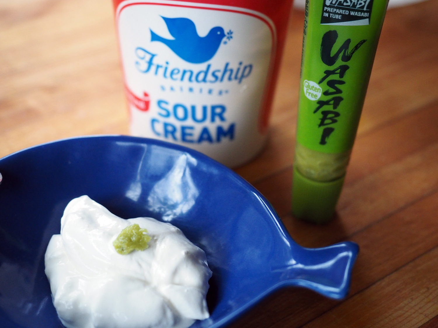 Wasabi comes in powder form or paste, and can be found in most grocery stores in the Japanese section.