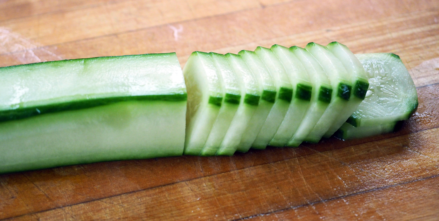 Extra cucumber, comes to the rescue of vegetarians!