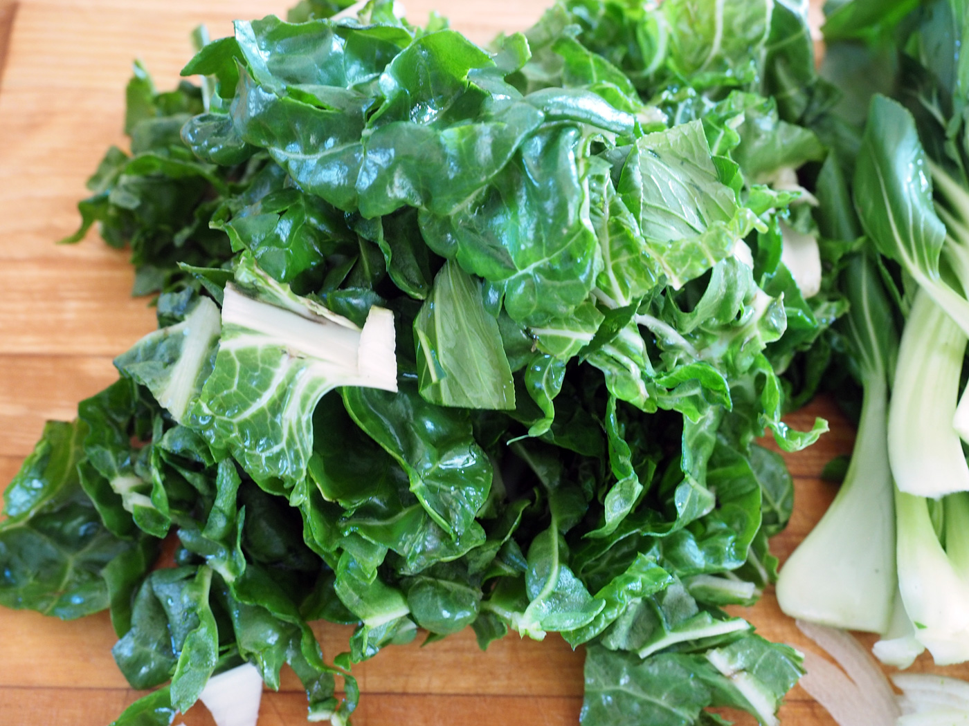Look at the vibrancy of that chard!