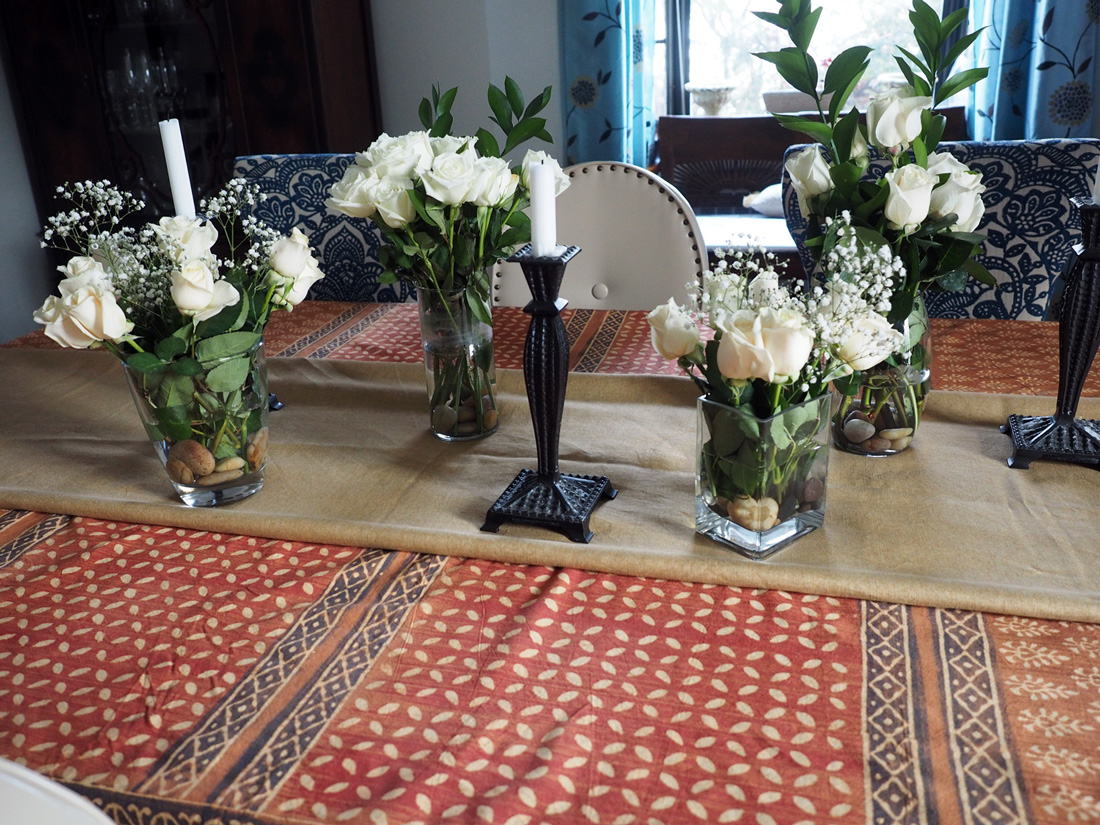 Without even realizing it, I noticed that the candle sticks also fall in step with an Africa vibe.