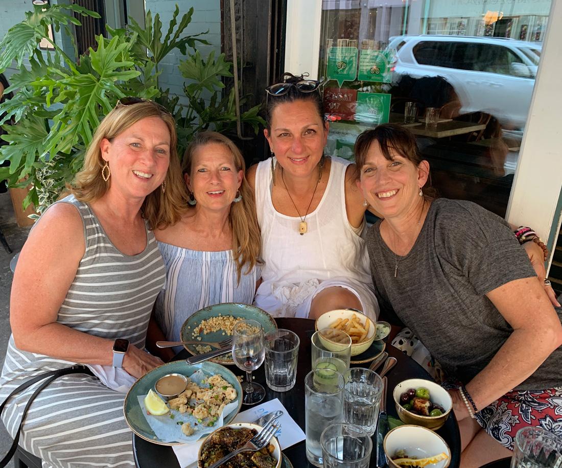 Nancy, Kathy, me and Dianne.                                                                                                                                             Photo credit: Kathy Lashlee