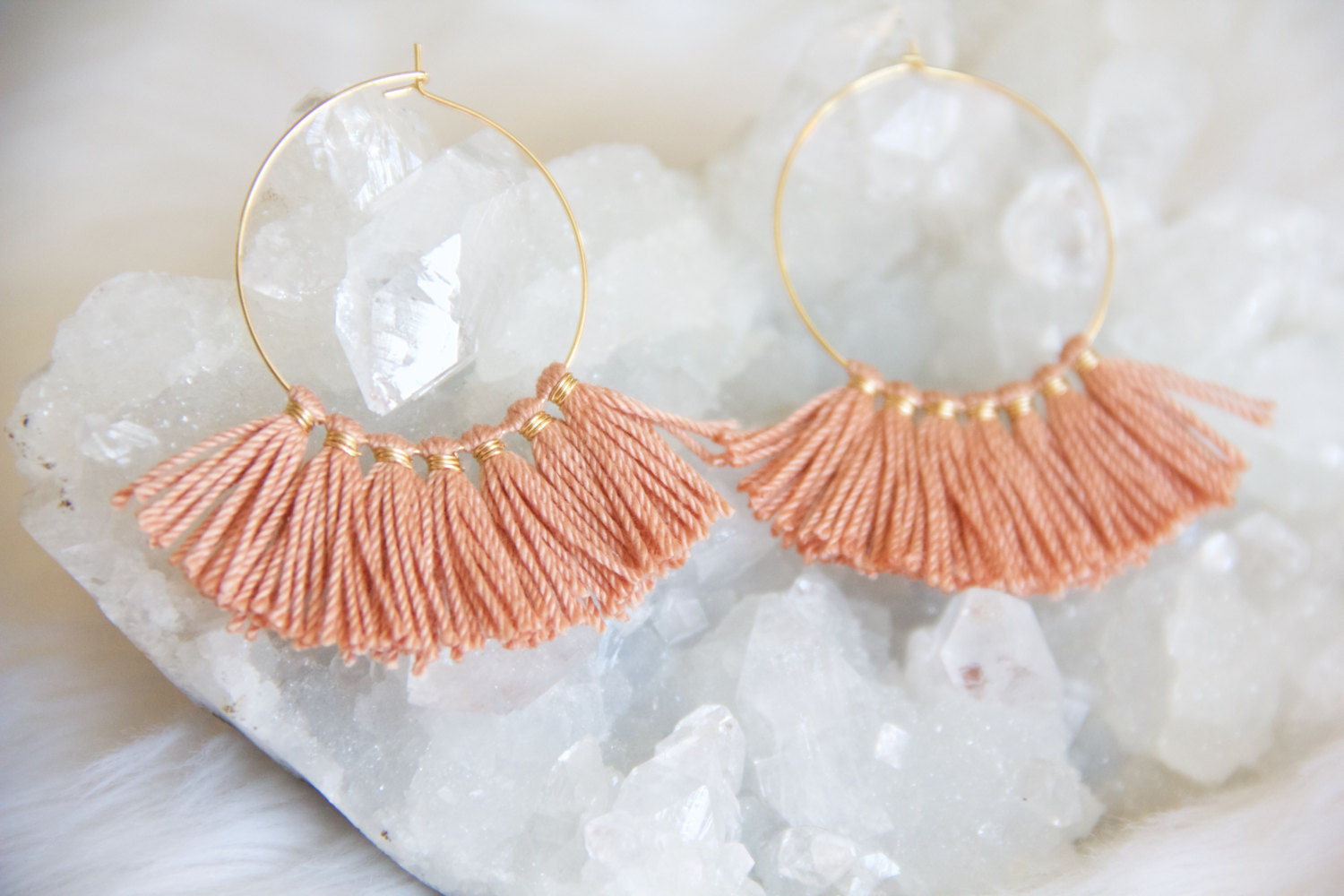 Tassle Hoop Earrings from Mesa Blue