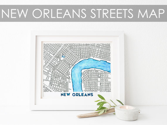 New Orleans Watercolor from  Joy Street Maps