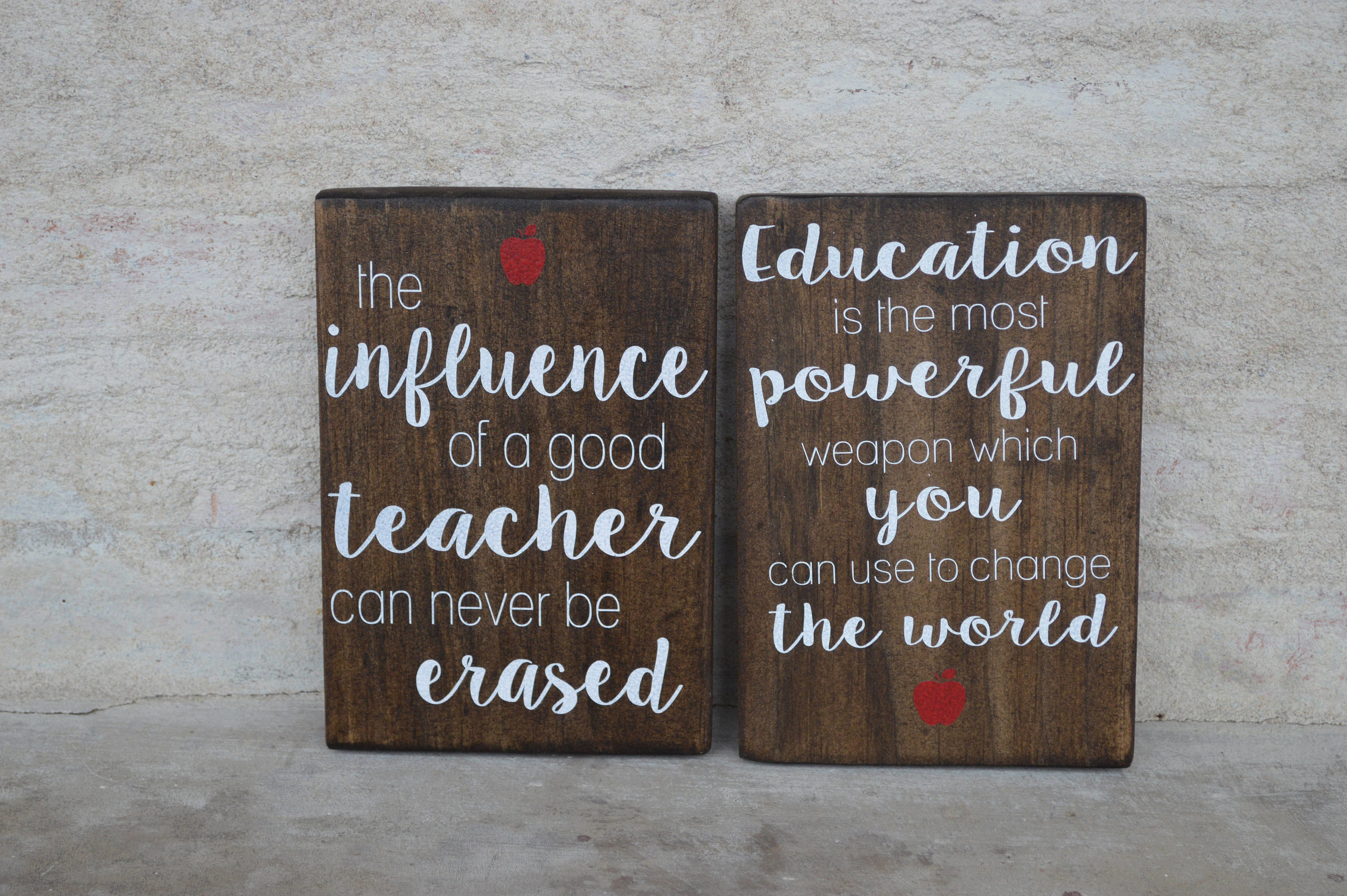 Teacher's Quote Wood Sign - The Chatham Collective