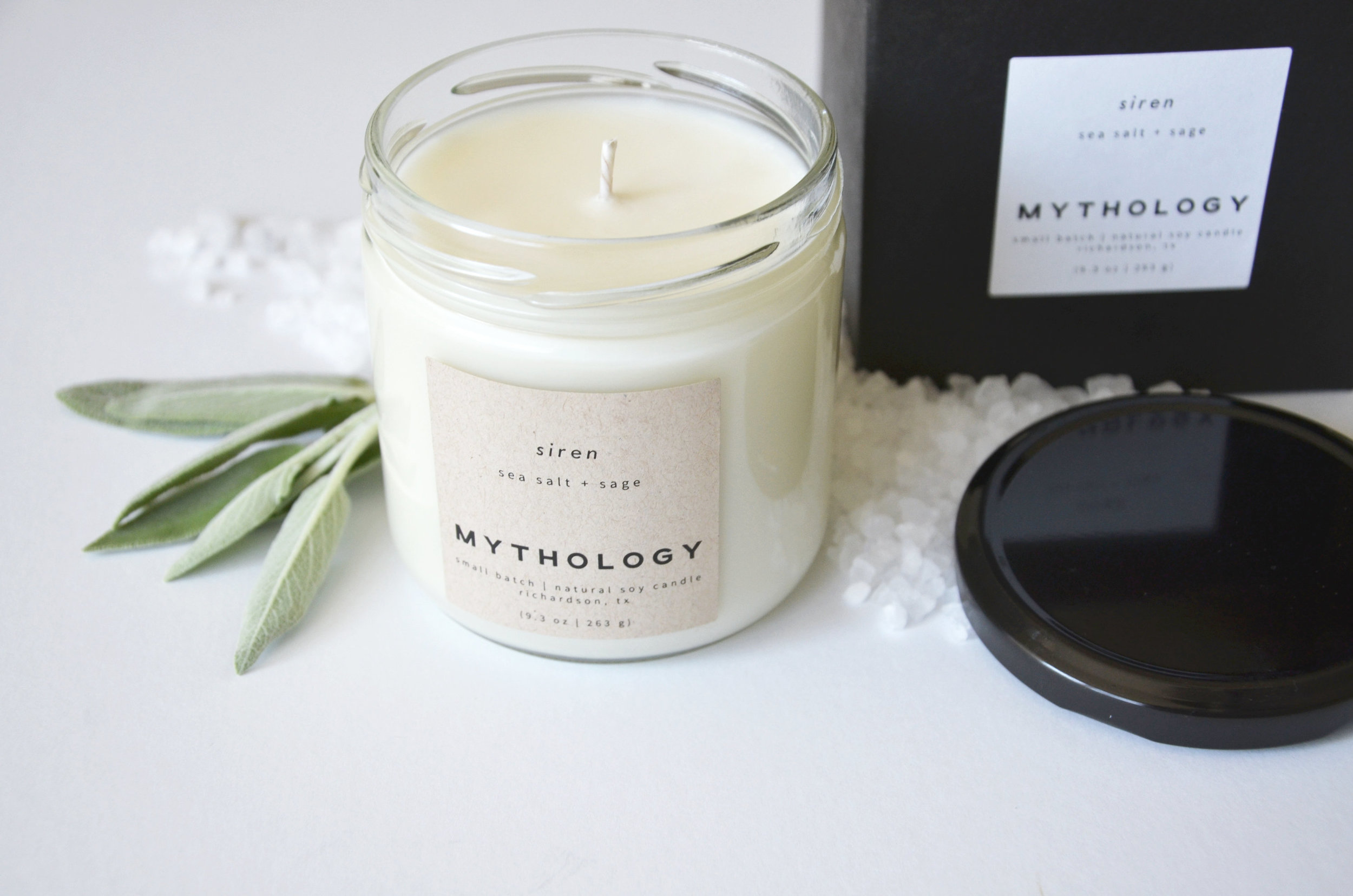 Sea Salt Sage Soy Candle - Mythology Candles