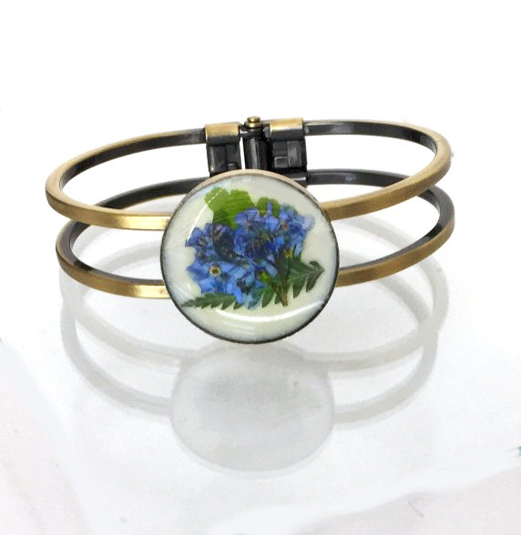Forget Me Not Cuff Bracelet - Whispers in The Glen
