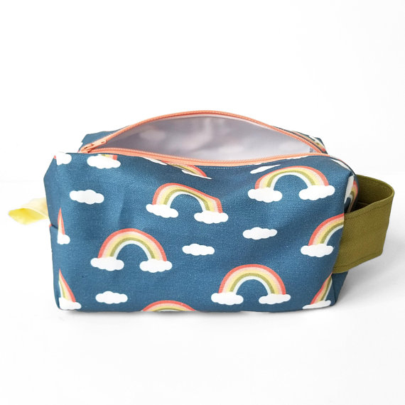 Pack all of your kid's essentials in this cute pouch from  Hearts and Sharts .