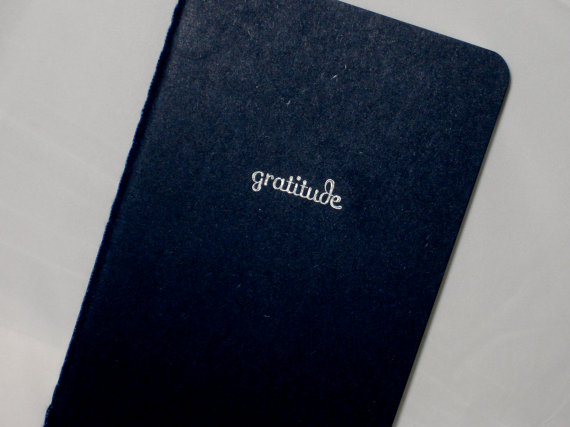 Use the start of the new year to jump-start a new habit with this gratitude notebook from  MadeByRori .