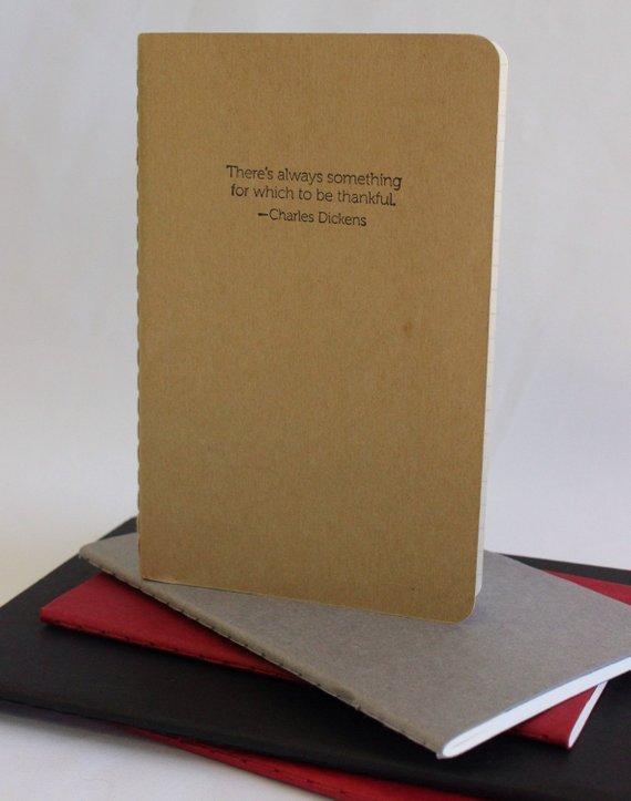 MadeByRori Dickens gratitude journal