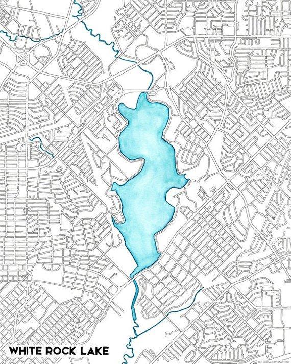 White Rock Lake map by Joy Street Maps