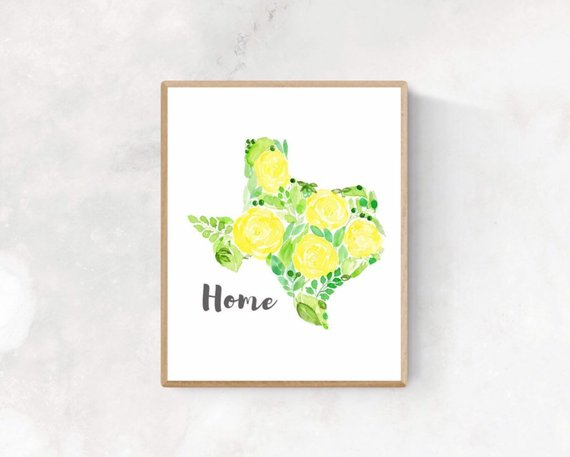 Yellow rose of Texas wall art by  Martolana