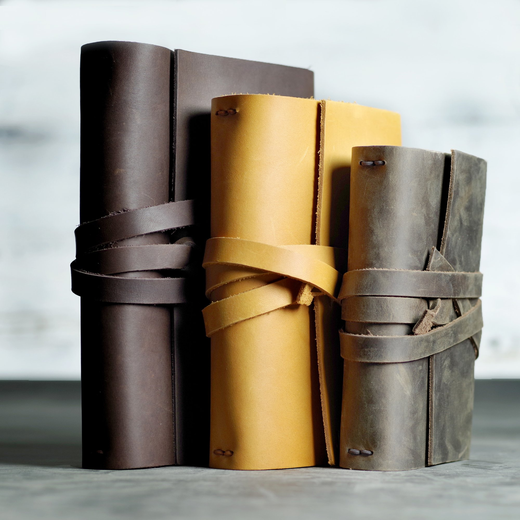 Professors and students will love these stylish, refillable leather journals by  Ox & Pine . Personalize it with initials, graduation year, or a favorite quote.