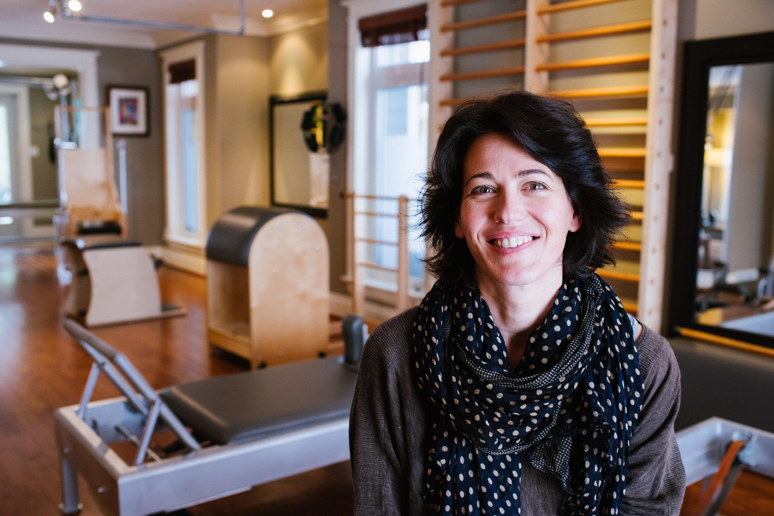 Julie Fontana-Giusti, our Senior Instructor at Aligned Pilates.
