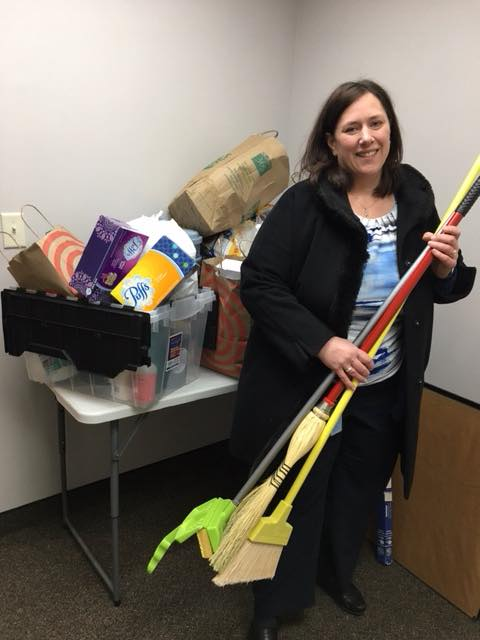 Friend of the ministry, Jennifer, with her donation.
