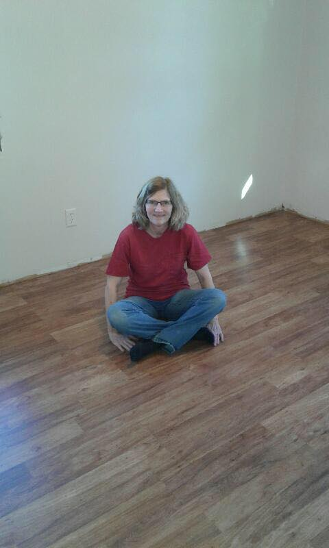 Sue Bro installed this flooring in Esther's Place. Thanks Sue!
