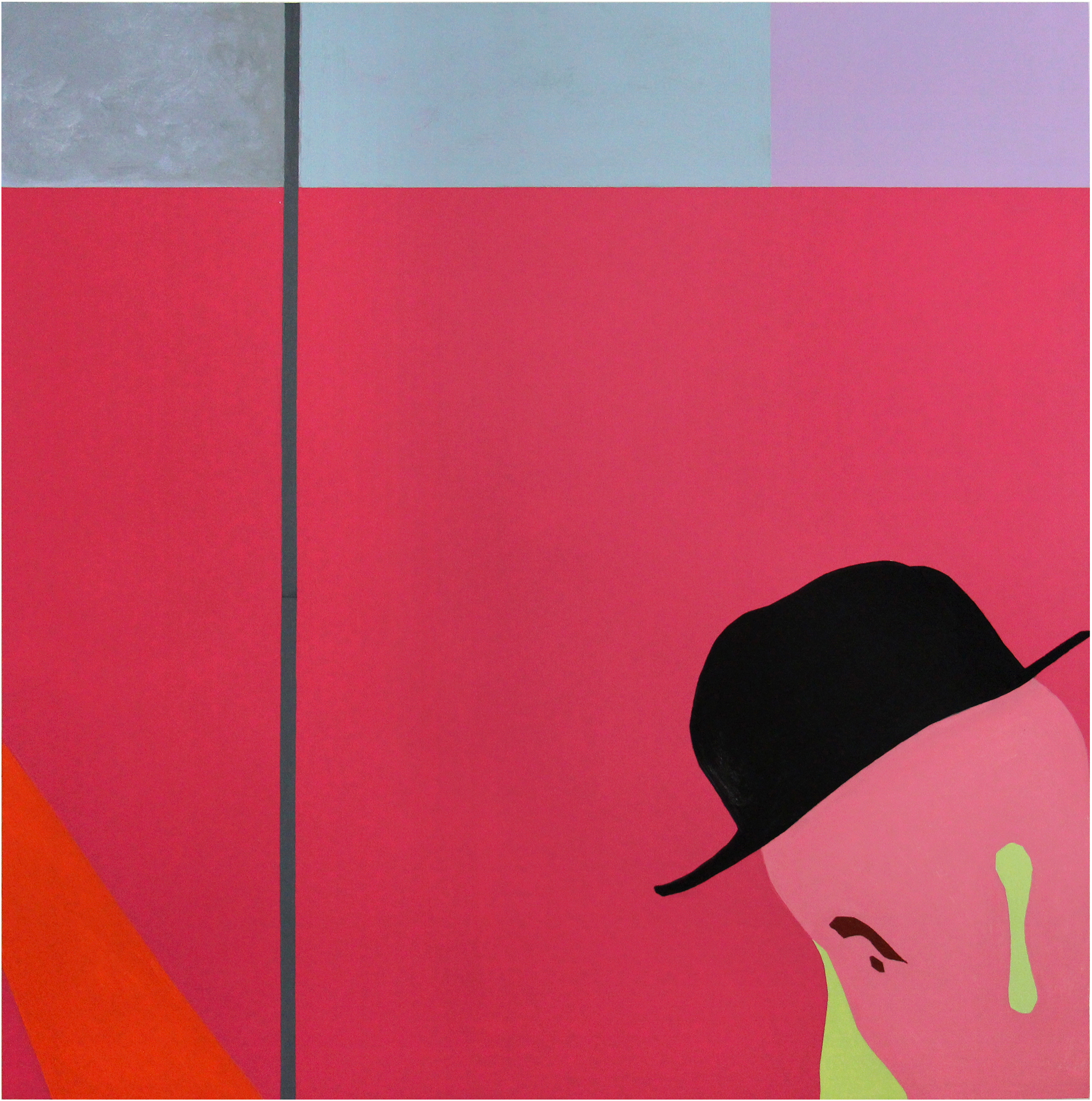 Hat , Latex on Wood, 48″x48″, 2015