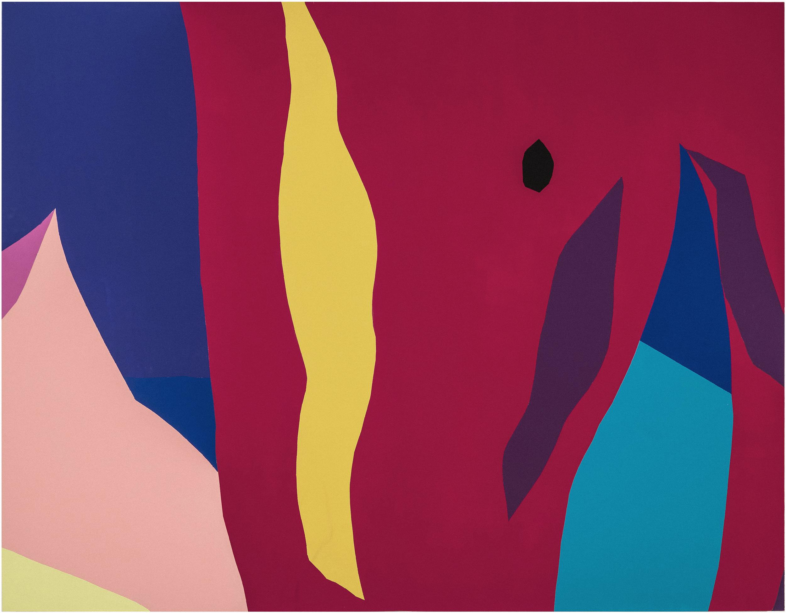 "Untitled , Enamel on wood, 71.5""x91.5"", 2014"