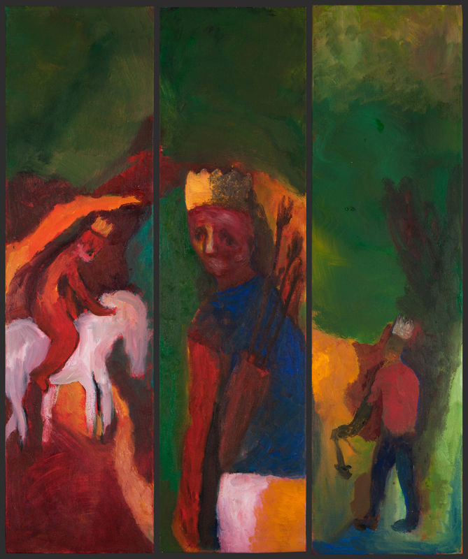 "Three Kings , Triptych, 30""x24"", Oil on Canvas, 2011"