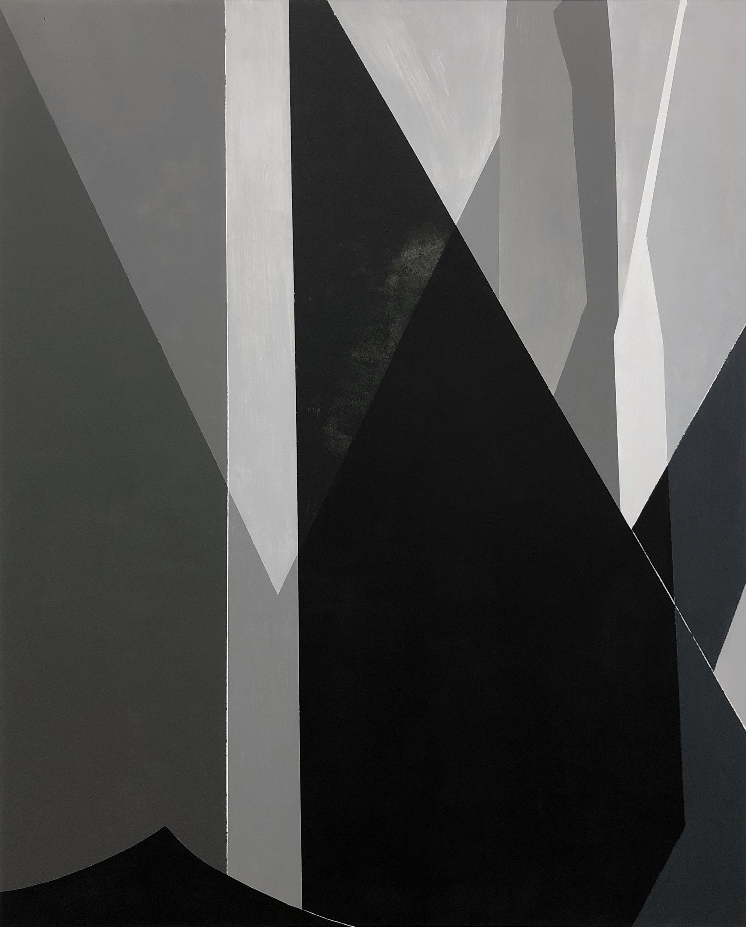Self-Similar Mountain , 2019 Latex on wood, 60x48 Inches