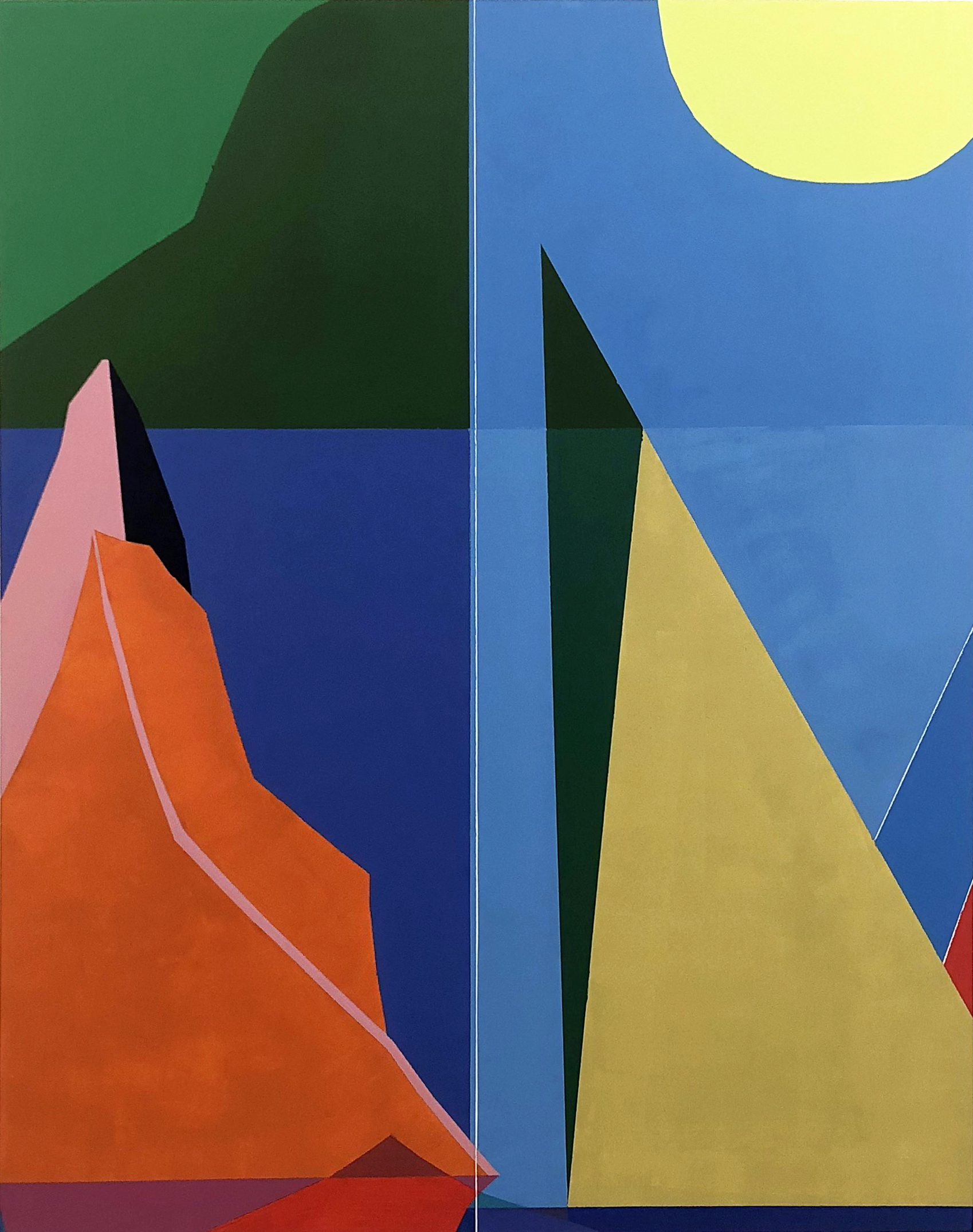 Mountain Unfolding , 2019 Latex on wood, 60x48 Inches