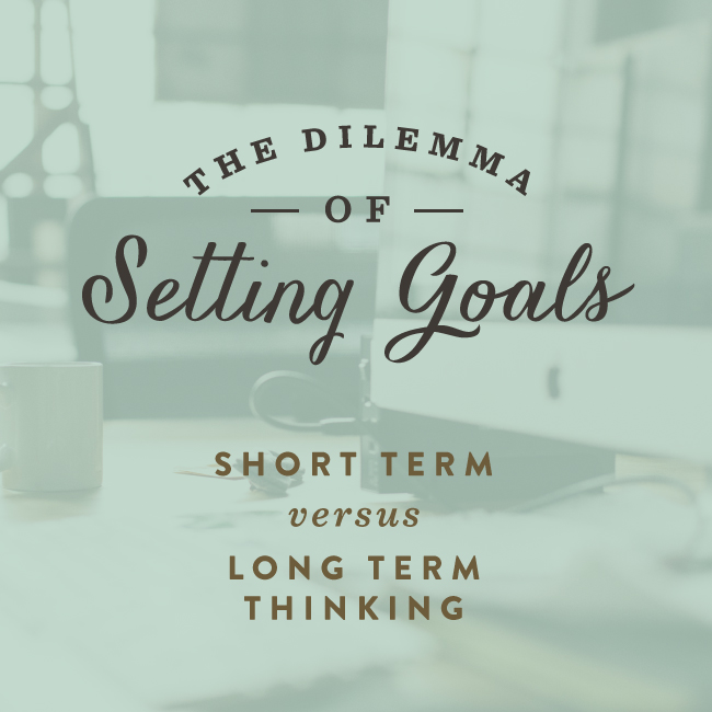 The dilemma of setting goals / Spruce Rd.