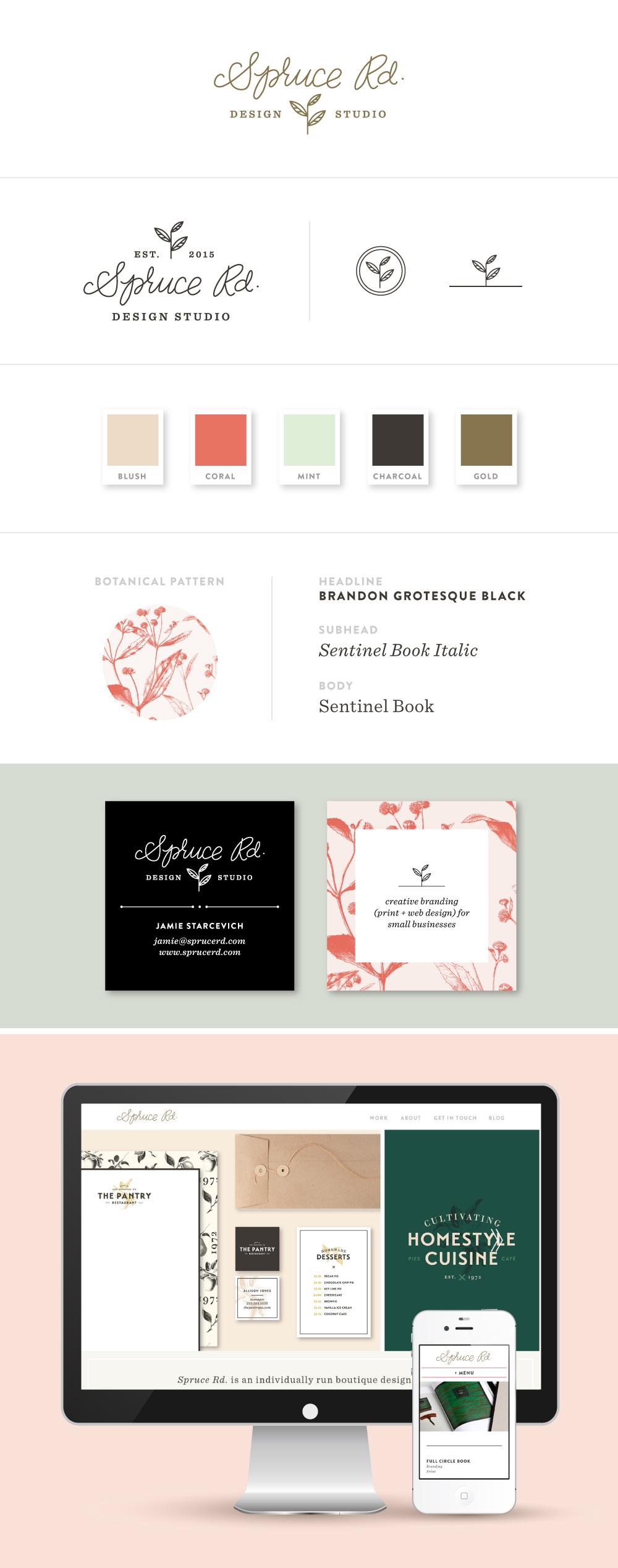 Branding Design | Spruce Rd. #branding #design #logo #lettering #graphicdesign #freelance