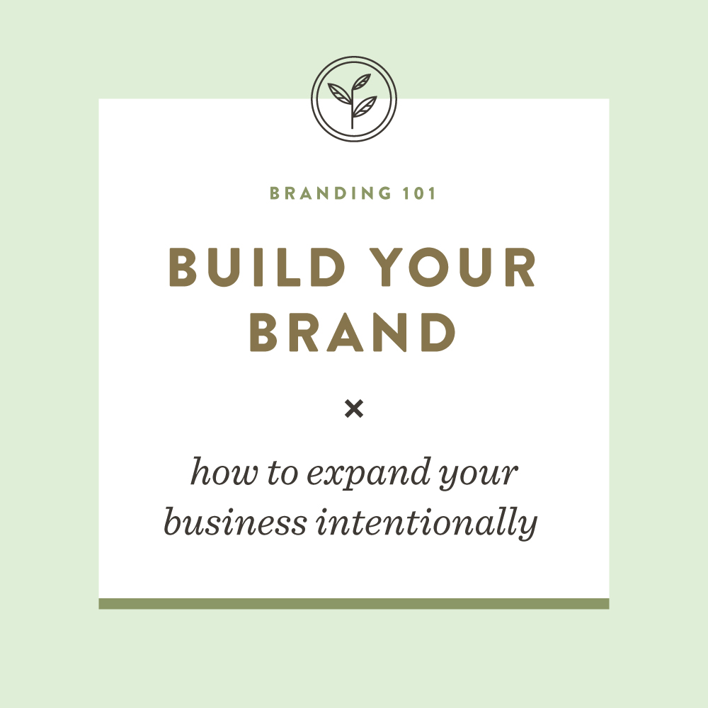 Build Your Brand: How to expand your business intentionally | Spruce Rd. #branding #freelance #entrepreneur #graphicdesign