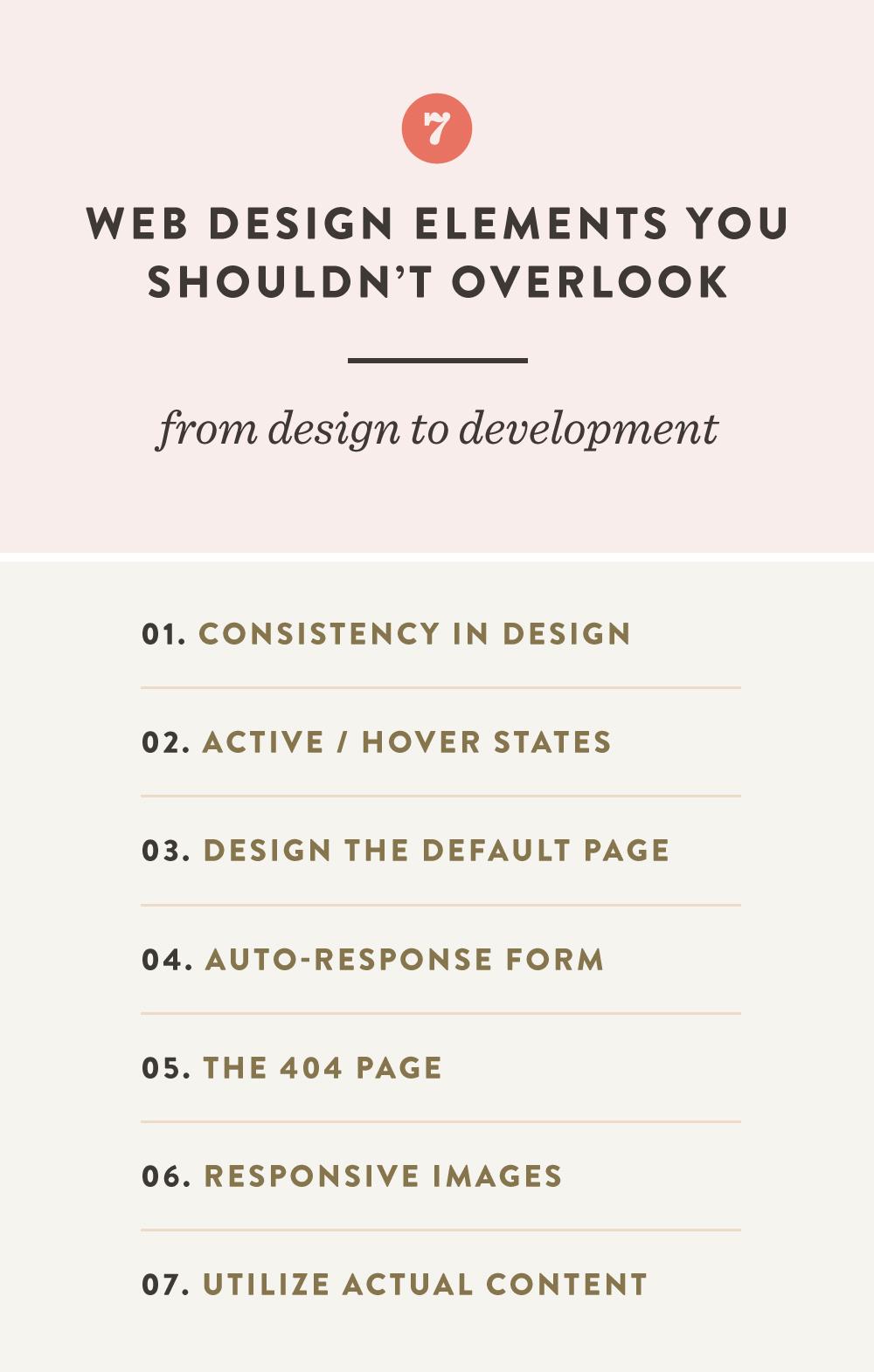 7 Web Design Elements You Shouldn't Overlook | Spruce Rd. #webdesign