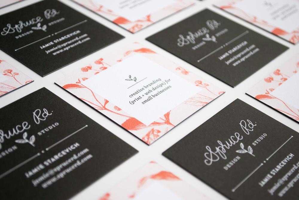 Spruce Rd. Business Card Design