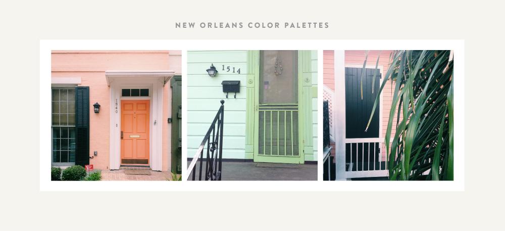 New Orleans Color Palettes | Spruce Rd. #color #inspiration