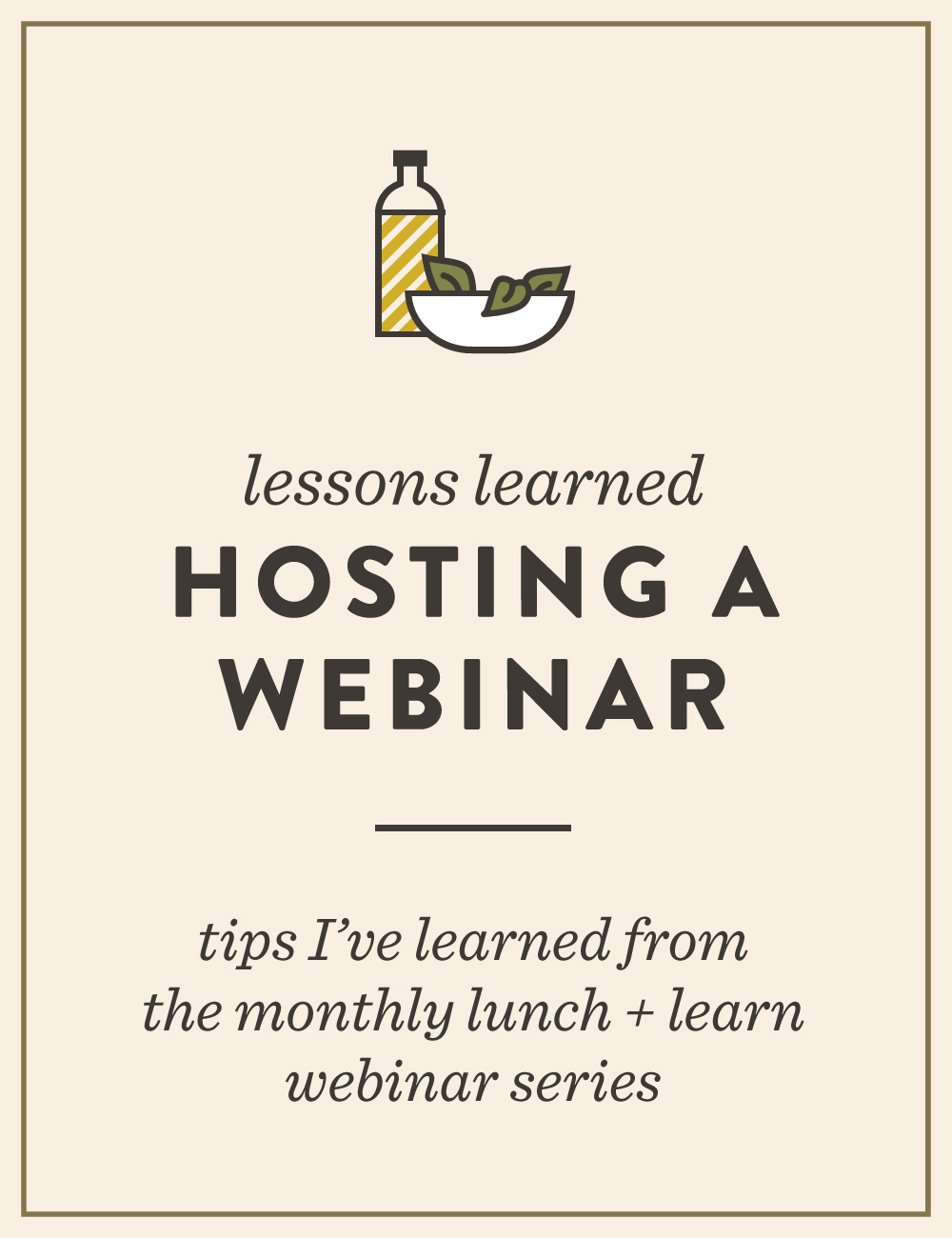 Lessons Learned: Hosting a Monthly Webinar | Spruce Rd. #webinar
